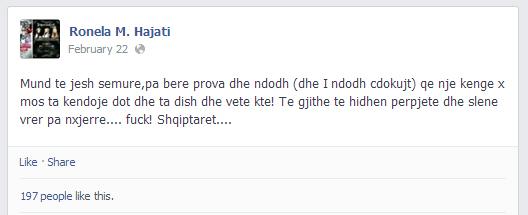 ronela-hajati-facebook