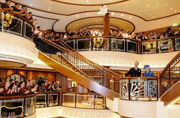 Cunard Queen Elizabeth. Naming Ceremony.