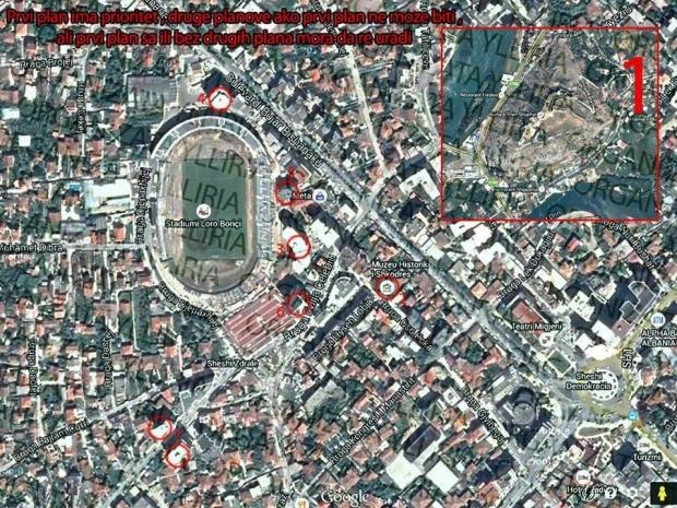 Në pamje: Harta me pikat nga ku serbët planifikojnë ngritjen e flamurit të Serbisë së madhe në Shkodër - See more at: http://shqiptarja.com/sport/2726/hakmarrja-skenar-per-serbine-e-madhe-ne-shkoder-zbardhet-plani-299279.html#sthash.CAwyKiDb.dpuf